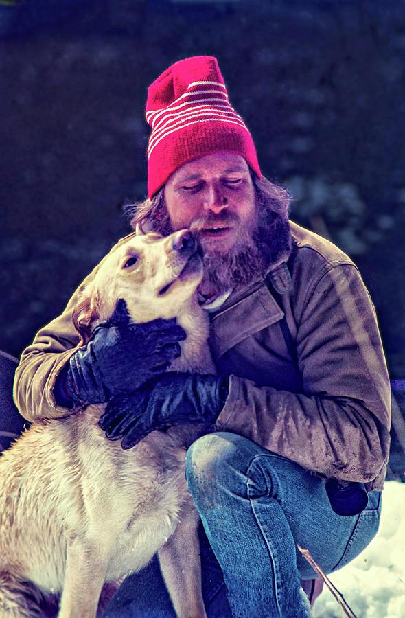 Film Photograph - A Man And His Dog 3 by Steve Harrington