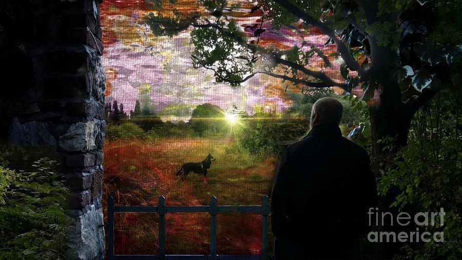 A man and his dog by Jolanta Anna Karolska