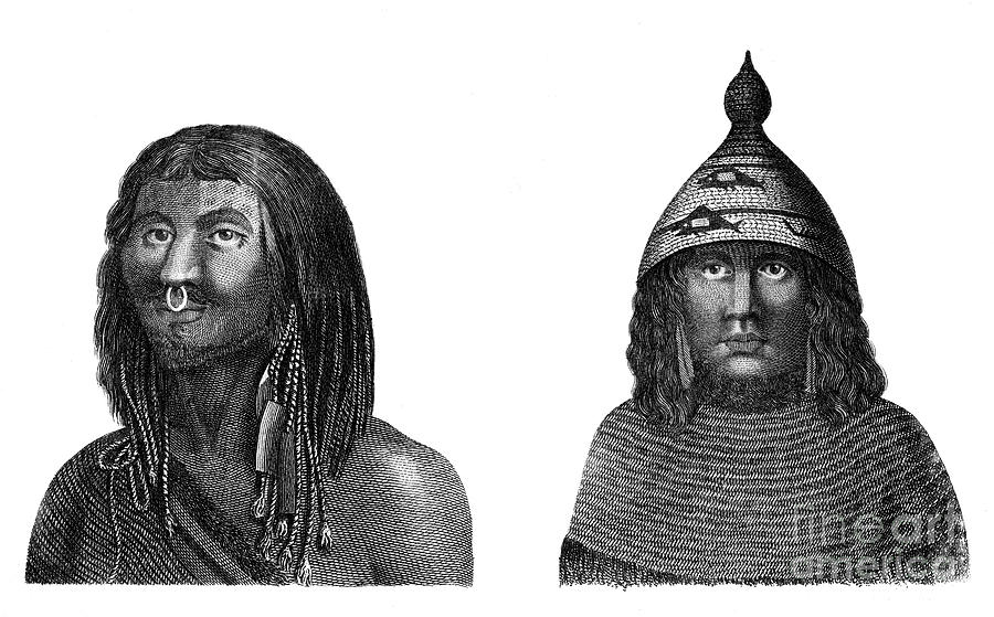 A Man And Woman Of Nootka Sound Drawing by Print Collector