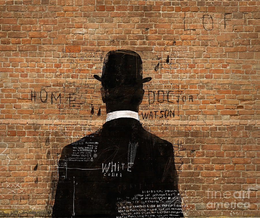 Shoulders Digital Art - A Man In A Hat Who Turned His Back On Us by Dmitriip