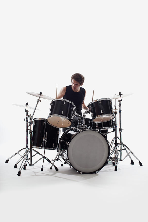 A Man On Drums Performing, Studio Shot Photograph by Antenna