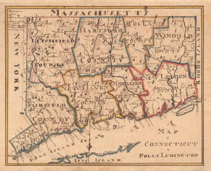 A Map Of Connecticut