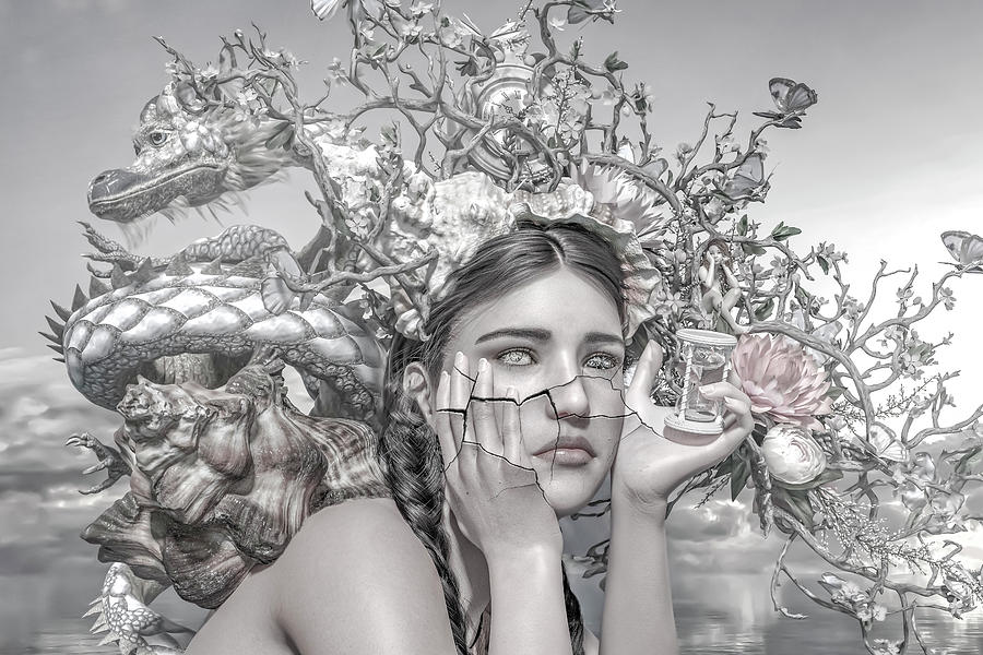 Surreal Digital Art - A Matter Of Time by Betsy Knapp