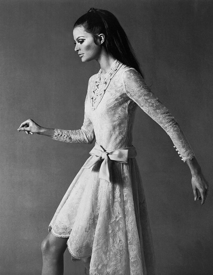 A Model Wearing A Nina Ricci Dress In Photograph by Keystone-france