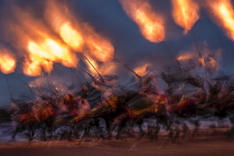 Action Photograph - A Moment Of Fire by Yomn Almonla