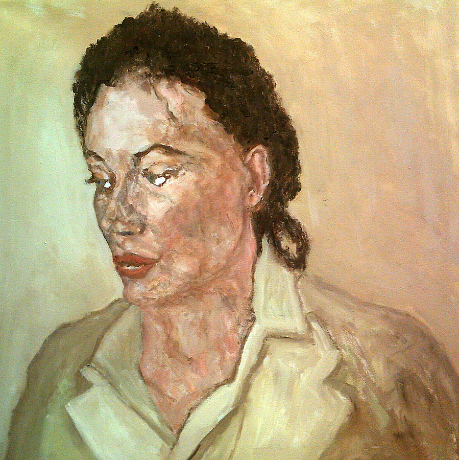 A Moment's Thought, The Woman  In Mottled Light by Peter Gartner