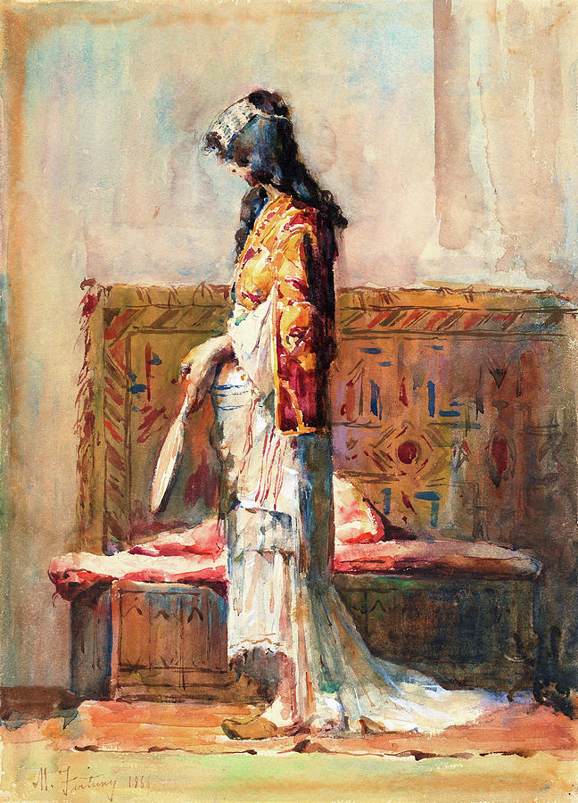 Morocco Painting - A Moroccan Woman In Traditional Dress - Digital Remastered Edition by Mariano Fortuny