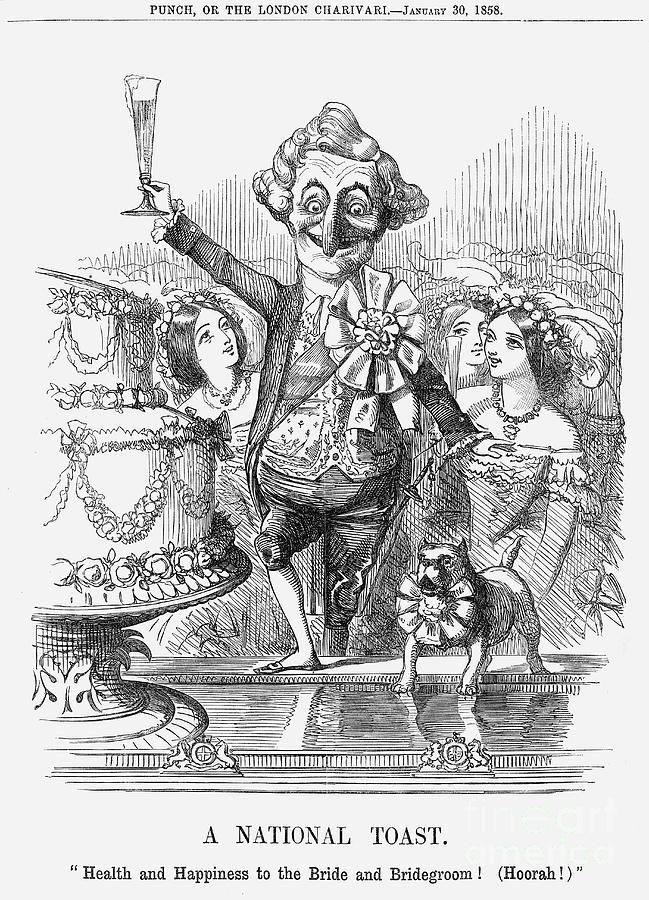 A National Toast, 1858 Drawing by Print Collector