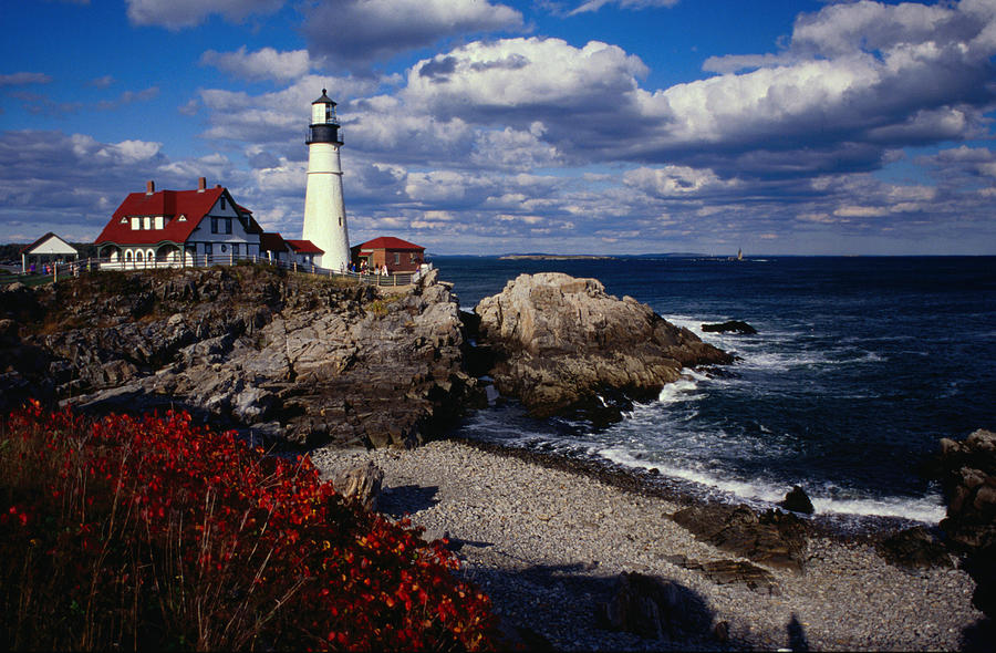 A New England Lighthouse At Portland Photograph by Lonely Planet