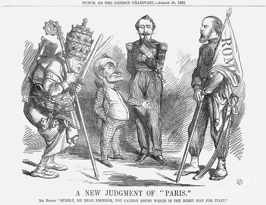 A New Judgement Of Paris, 1862. Artist Drawing by Print Collector