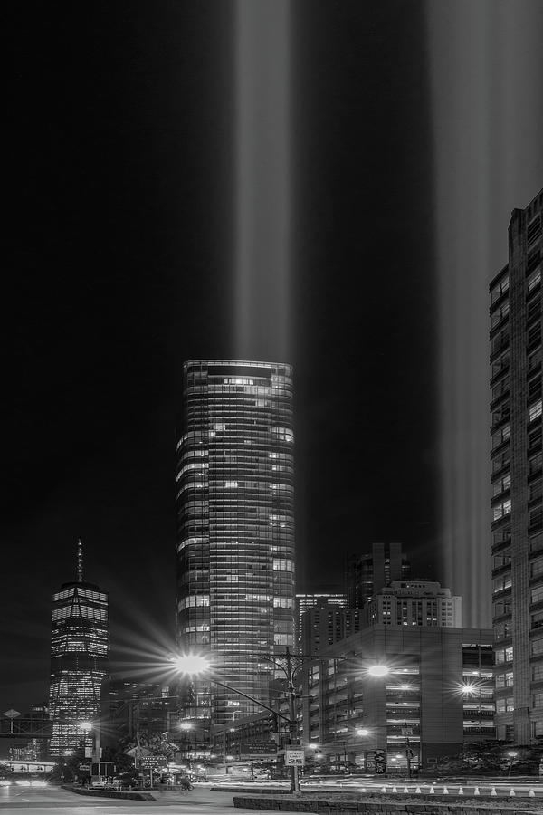 A NYC 911 Tribute In light BW by Susan Candelario