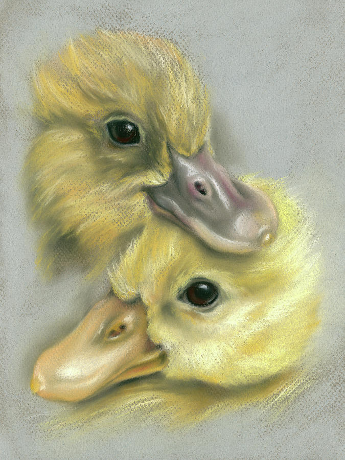 A Pair of Friendly Ducklings by MM Anderson