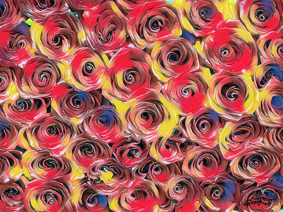 A Panel of Roses by Bearj B Photo Art