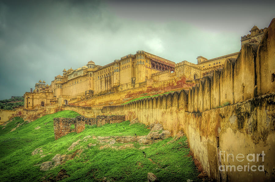 Amer Fort Photograph - A Panoramic View Of Amer Fort - India by Stefano Senise