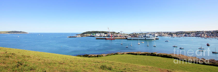 A Panoramic View Of Falmouth Photograph