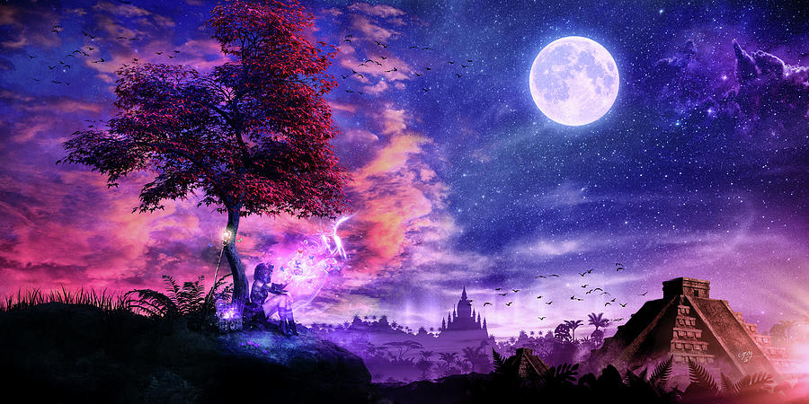 Blue Digital Art - A Place For Fairy Tales by Cameron Gray