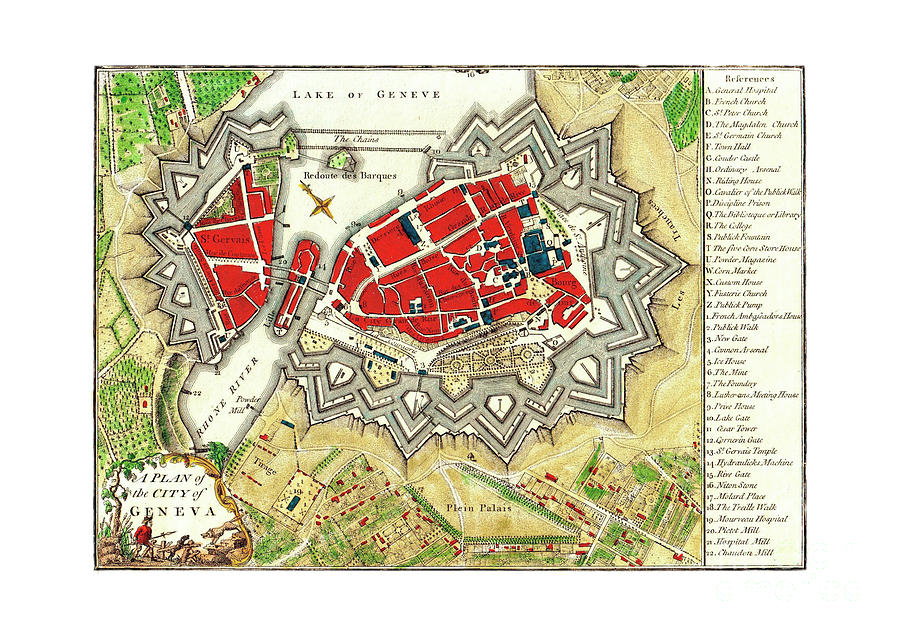 A plan of the city of Geneva by Unknown