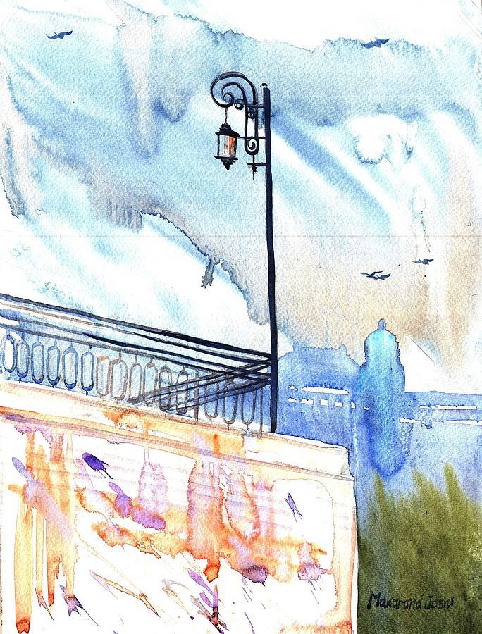 Pole Painting - A Pole, Tashkent by Makarand Joshi