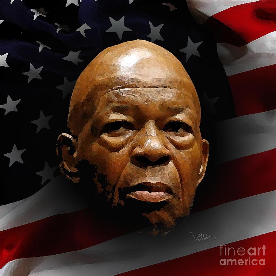 A Portrait of Elijah Cummings 1 by Walter Neal