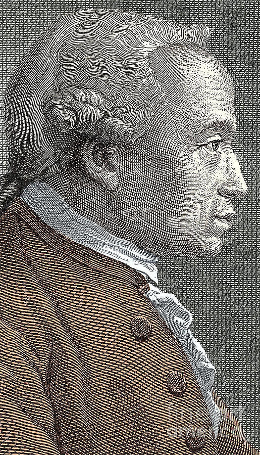 Kant Drawing - A Portrait Of Immanuel Or Emmanuel Kant by European School