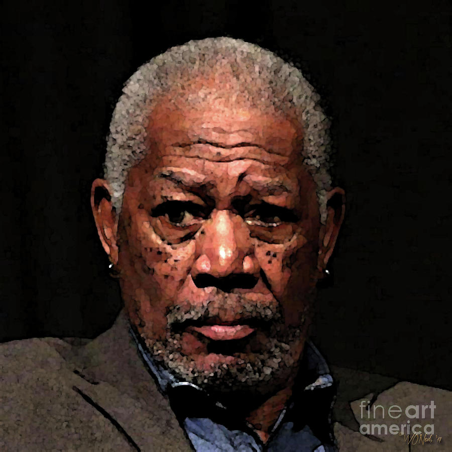A Portrait of Morgan Freeman by Walter Neal