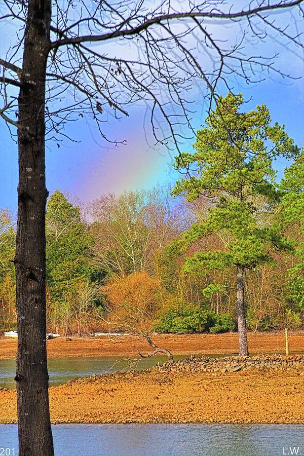 A Pot Of Gold On Lake Murray South Carolina Vertical by Lisa Wooten