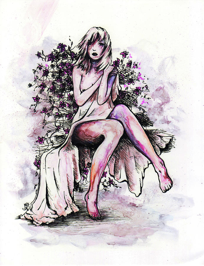 Figure Drawing - A Pretty Flower by William Russell Nowicki