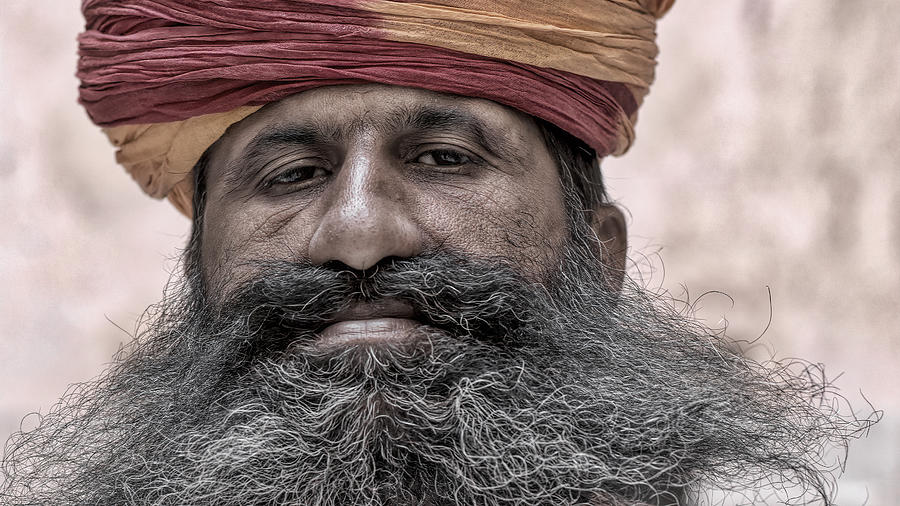 India Photograph - A Proud Beard by James Kenning