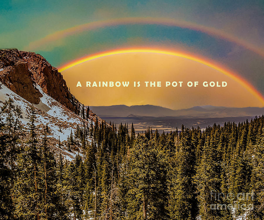 A Rainbow is the pot of gold by Metaphor Photo