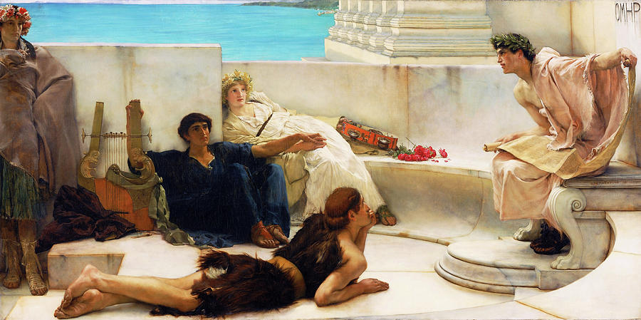 A Reading from Homer - Digital Remastered Edition by Lawrence Alma-Tadema
