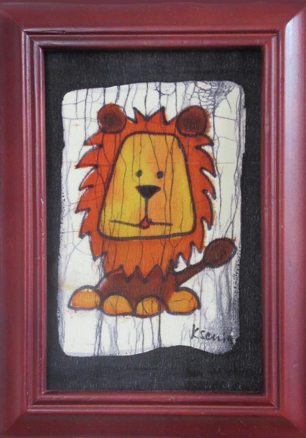 Animal Mixed Media - A Red Lion.  by Ksenia Golubkov