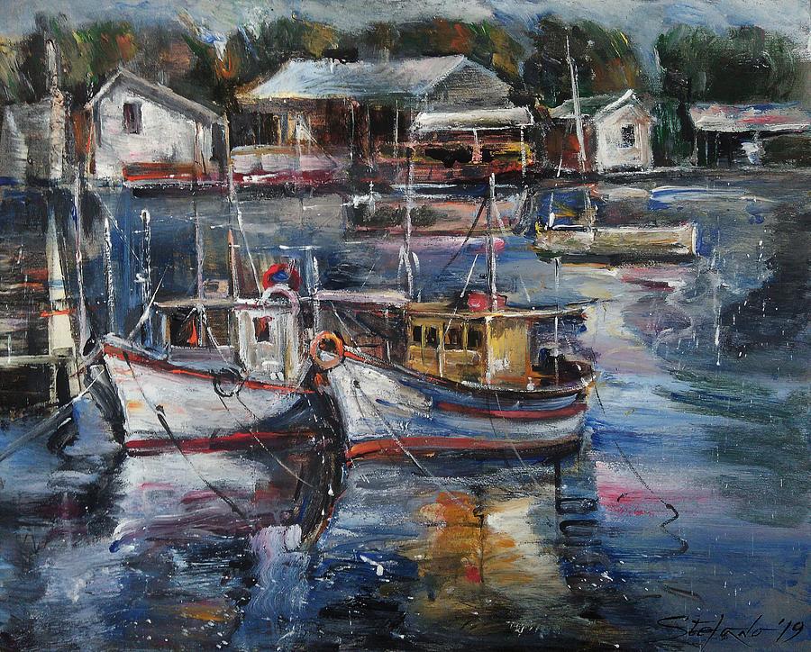 Impressionism Painting - A Rest Day by Stefano Popovski
