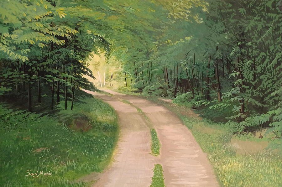 Road Painting - A road in the forest by Said Marie