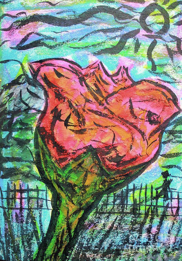 A Rose In The Garden by Odalo Wasikhongo