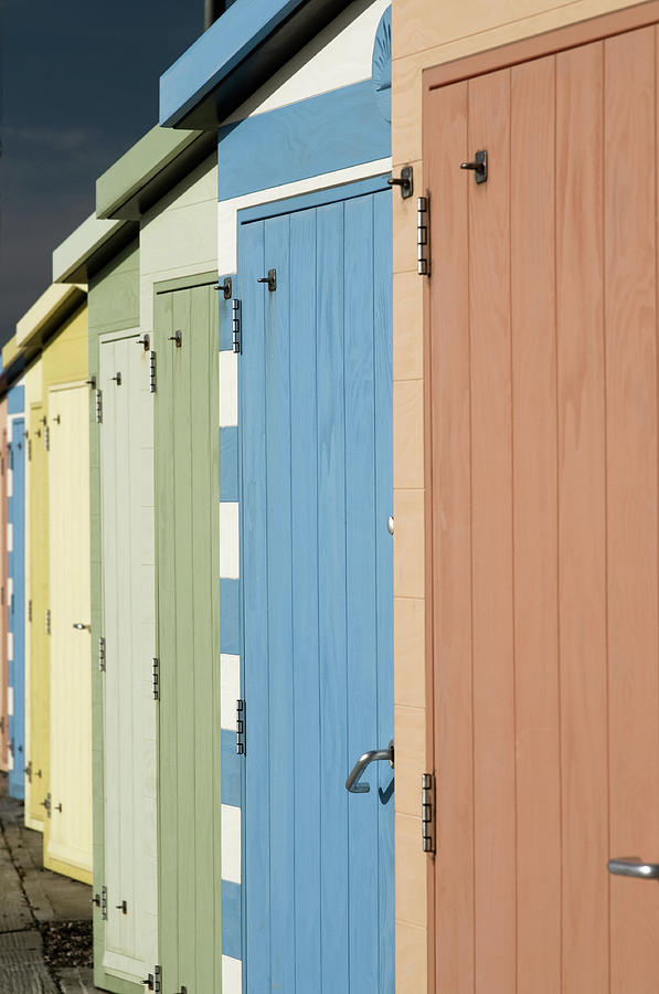 A Row Of Beach Huts Photograph by Matthew Piper