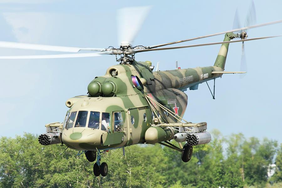 Outdoors Photograph - A Russian Aerospace Forces Mi-8amtsh by Daniele Faccioli