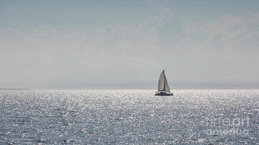 A sailboat in sunlight by Agnes Caruso