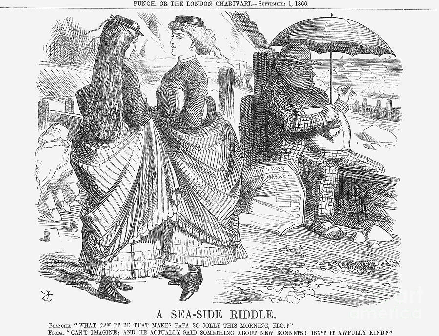 A Sea-side Riddle, 1866. Artist John Drawing by Print Collector