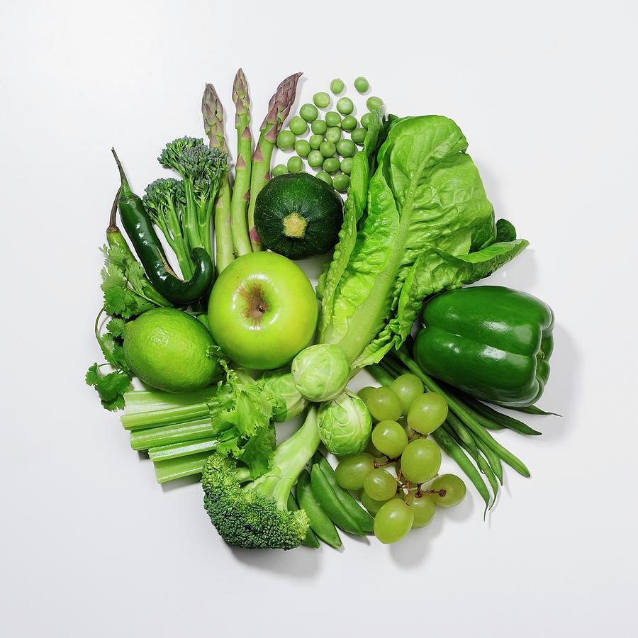 A Selection Of Green Fruits & Photograph by David Malan
