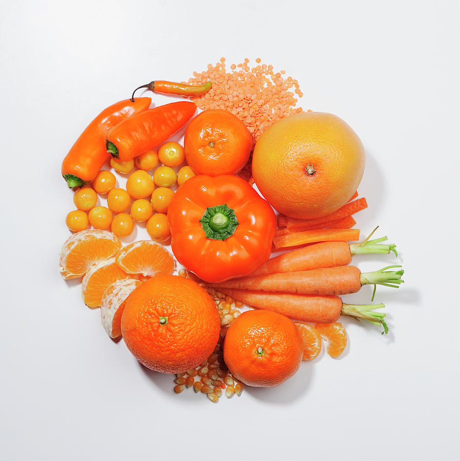 A Selection Of Orange Fruits & Photograph by David Malan