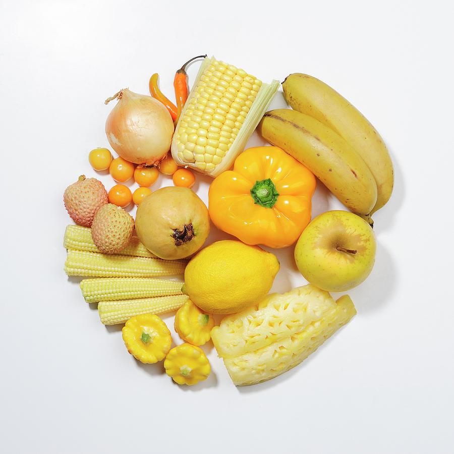 A Selection Of Yellow Fruits & Photograph by David Malan