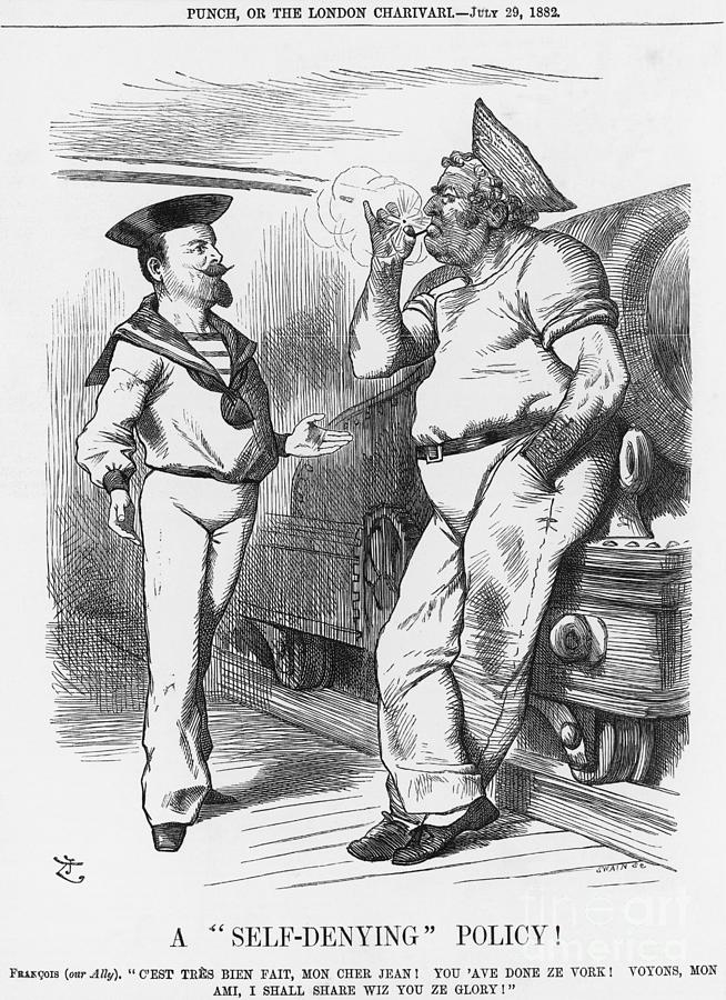 A Self-denying Policy, 1882. Artist Drawing by Print Collector