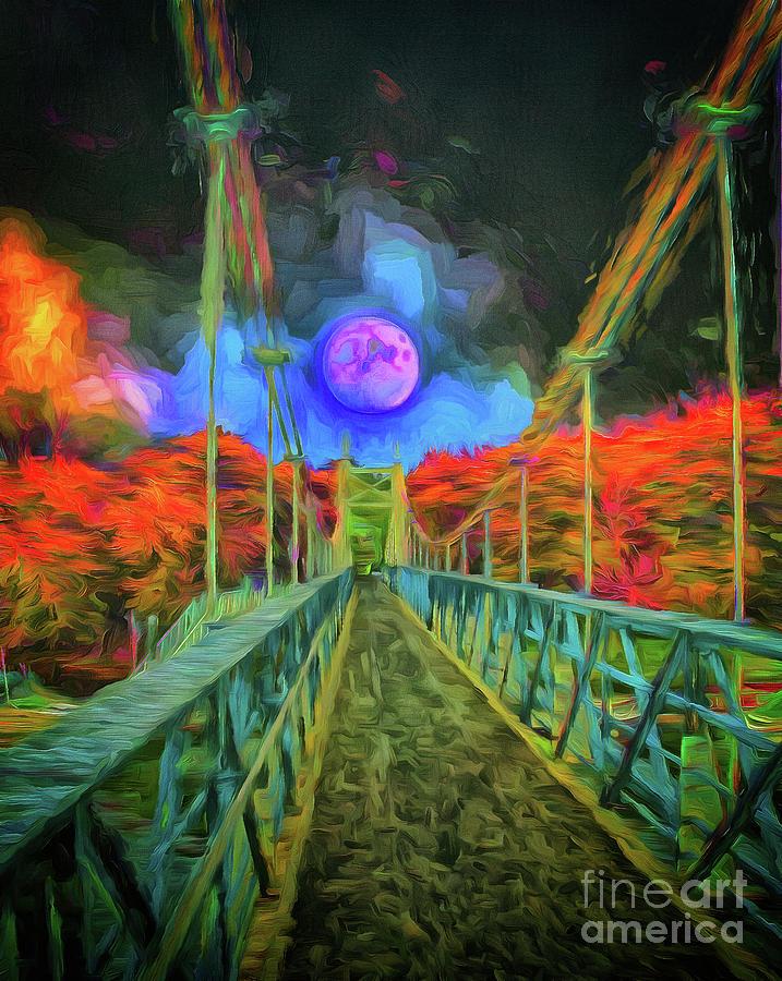 Suspension Bridge Photograph - A Sense Of Impending Suspense by Leigh Kemp