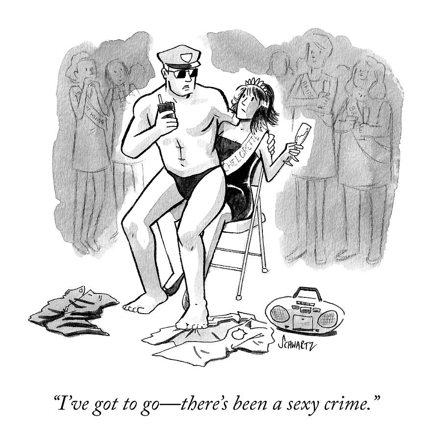 A Sexy Crime Drawing by Benjamin Schwartz