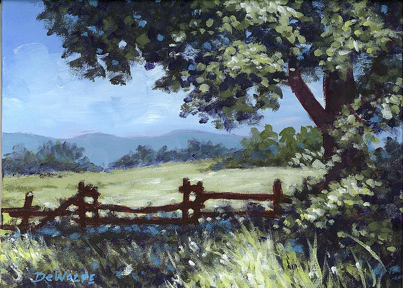A Shady Rest Sketch by Richard De Wolfe
