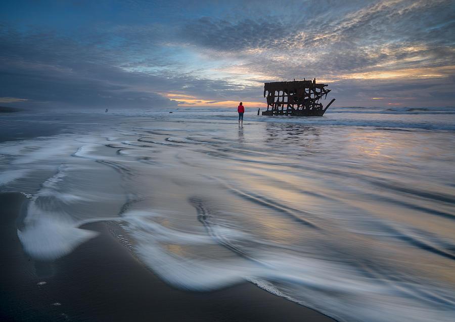 Shipwreck Photograph - A Shipwreck by Shenshen Dou