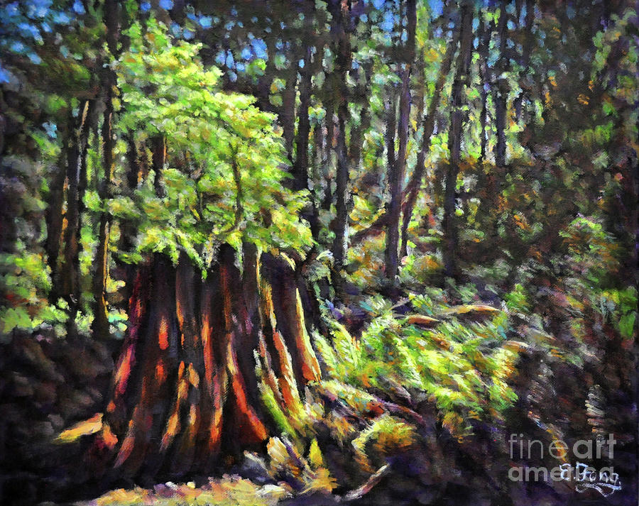 Forest Painting - A Showcase In Forest by Eileen  Fong