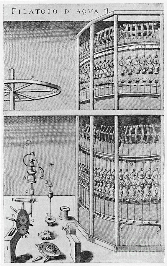 A Silk-spinning Mill 1607 Drawing by Print Collector