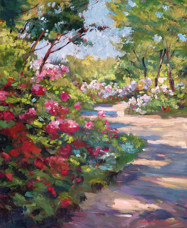 A Spring Walking Path Painting