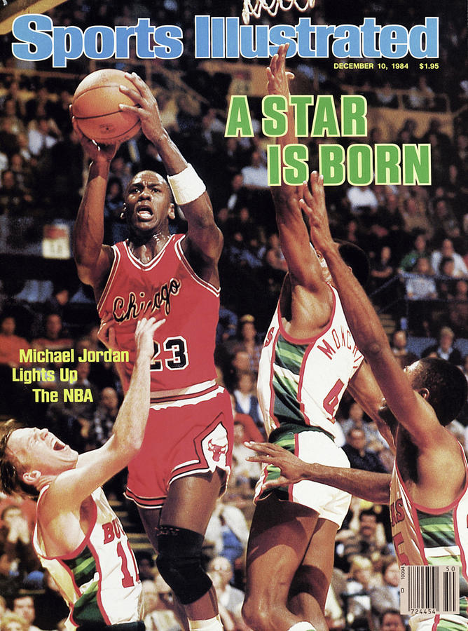 A Star Is Born Michael Jordan Lights Up The Nba Sports Illustrated Cover Photograph by Sports Illustrated